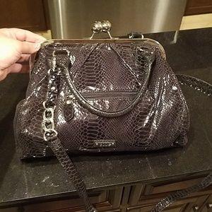EUC black snakeskin crossbody purse by Elle